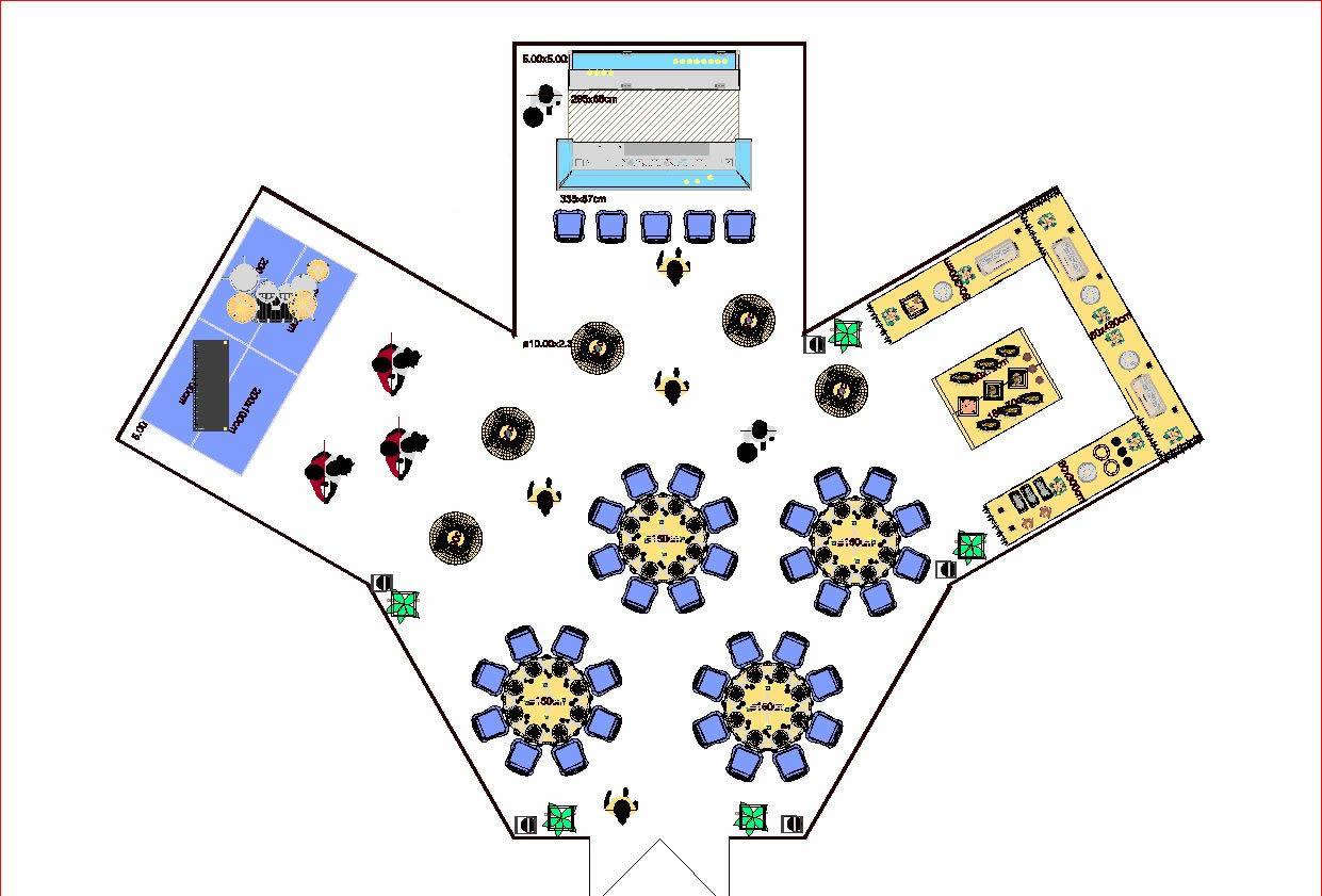 Zeltplanung Entwurf 2D